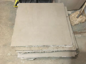 Large Taupe Ceramic Tiles