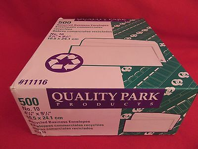 3 boxes Quality Park Recycled  Business Envelope #10  White 500/Box - gummed (10 Recycled Business Envelopes)