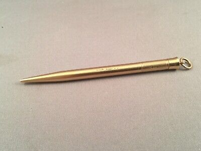 SUPERB ASPREY 9ct GOLD ART DECO EVERPOINT PENCIL, SAMPSON MORDAN, LOND 1934