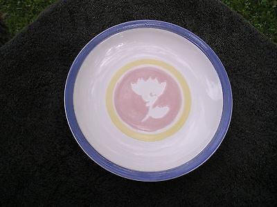 Studio Nova Garden Fresh Blue Trim Pink W/ White Flower Yellow Band Salad (Fresh Garden Salad)