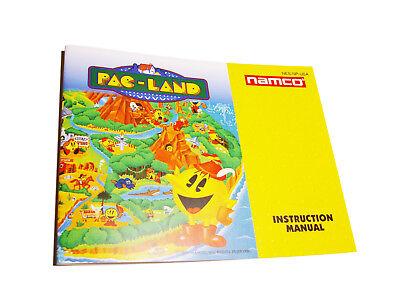 Pac-Land Nintendo NES Famicom English Instruction Manual Booklet Namco
