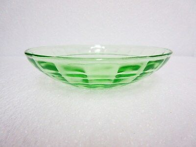 HTF Green Block Optic Cereal Bowl (s) / 11 Available / Hocking Glass Co