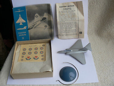 Wiking-Flugzeug Aircraft-Model:Gloster Javelin Silberserie+Box+Decals+Stand RARE