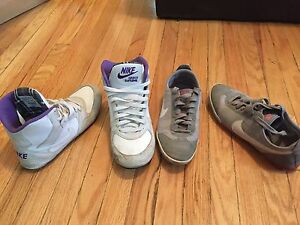 Two pairs of sporty Nike shoes size 8