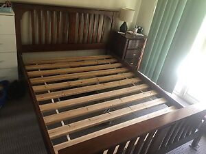 Queen Bed Frame and 2 X Bedside Tables Bridgeman Downs Brisbane North East Preview