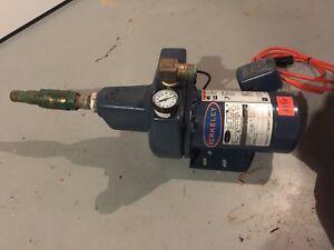 Berkeley 1/2hp 115/230V Jet pump for well. Works good.