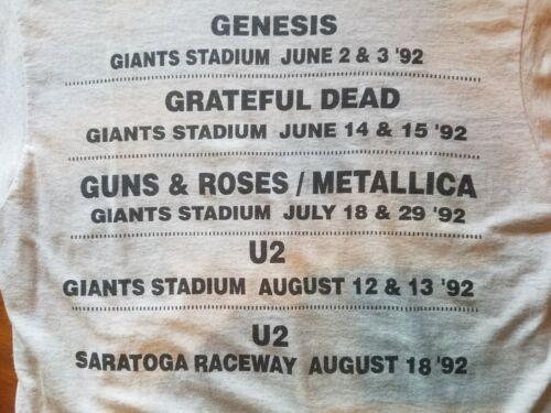 1992 GRATEFUL DEAD/U2/GENESIS/GUNS&ROSES/METALLICA TRUCKERS CREW TEE