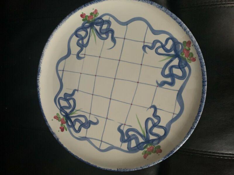 1996 Annalea collection cake plate Anne Albutine Giftcraft