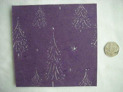 JobLot 10 Sheets CREATIVE Handmade FOILED XMAS TREE Paper Pack 6x6 NEW Bargain