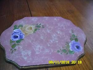 REDUCED PRICE Unique Hand Painted Plaque - Dusty Pink with Roses Mayfield East Newcastle Area Preview