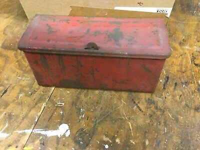Original Ford 8n Farm Tractor Tool Box With Bolt