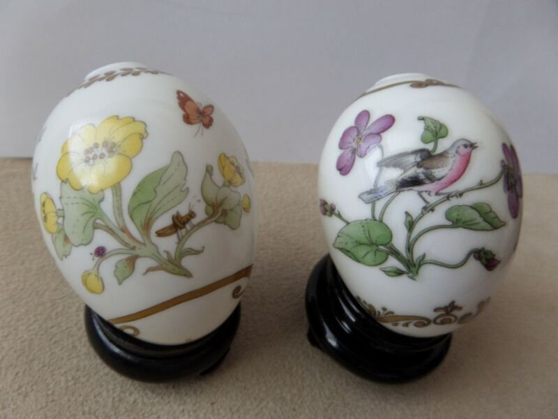 2 German Hutschenreuther Porcelain Eggs 1987 and 1988