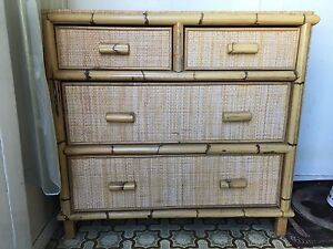 Cane. Chest of drawers Clayton Monash Area Preview