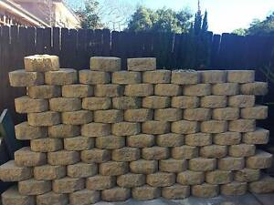 BORAL VANILLA GARDEN WALL RETAINING WALL BLOCKS Pagewood Botany Bay Area Preview