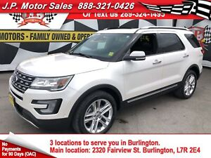 2017 Ford Explorer Limited, Navi, Leather Pan Sunroof, 4x4, 26,