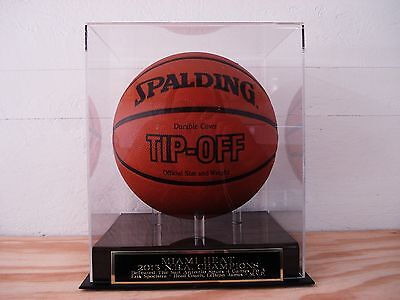 Basketball Display Case For Your Miami Heat 2013 N.B.A. Champs Signed Basketball