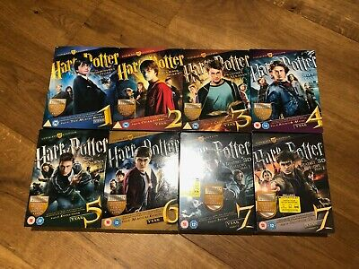 Harry Potter Ultimate Edition - Years 1-7 - COMPLETE Box Set - Blu-rays & DVDs