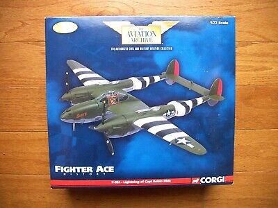 CORGI AVIATION ARCHIVE P-38J LIGHTNING CAPT. ROBIN OLDS 434TH FS NO. US36603 MIB