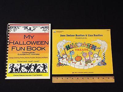NEW-My Halloween Fun Book-Easy Piano-Axford Song book & Bastien Treats-Music**  - Easy Piano Music Halloween