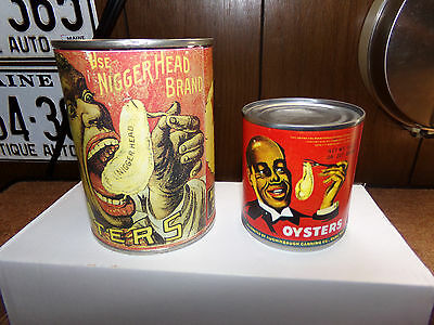 1  York River Oysters BLACK   Memorabilia cans +1 negro head can empty