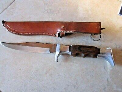 "vintage fixed 6"" blade knife and sheath Olsen Knife Co Solingen Germany"