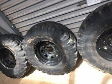 Silverstone mt117 35x11.5 16 280 85 16 mud tyres rims nissan patrol Rowville Knox Area Preview