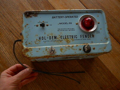 Vintage Electric Fencer Hol Dem Minneapolis Mn Blue Repurpose As Lamp 2