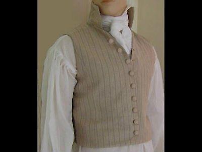 Mens Regency Napoleonic Mr Darcy Jane Austen Waistcoat Made To Measure