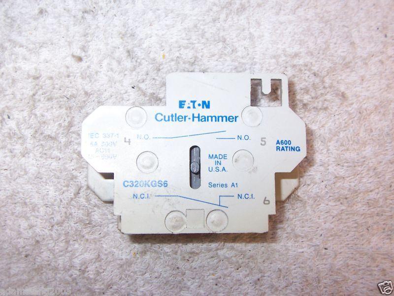 CUTLER HAMMER EATON C320KGS6 A1 CONTACTOR