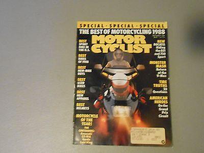 SEPTEMBER 1988 MOTORCYCLIST MAGAZINE,DUCATIS 851,750 SPORT,BEST 88