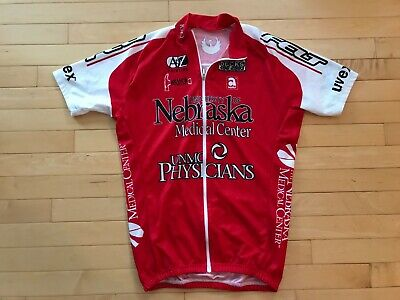 Huskers University Nebraska Physicians UNMC Cycling Jersey Sz L Medical Center - Nebraska Cycling Jersey