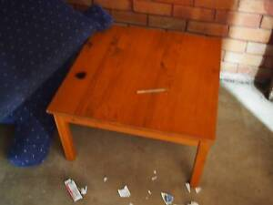 Square coffee table in light wood Chester Hill Bankstown Area Preview