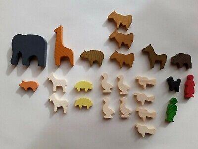 Holztiere Set 6 ( Erzi Set ), 24 Teile. Neu aus Lagerräumung online kaufen
