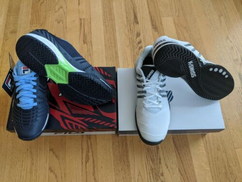 Two Pairs Of Tennis Shoes K-Swiss Fila