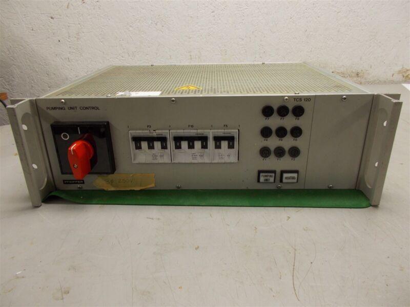 Pfeiffer TCS 120 Pumping Unit Control