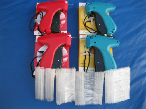 4 COMBINATION FINE & REGULAR GARMENT TAG GUN & 4 Needles  PLUSE  1000 Barbs