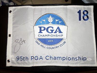 Jason Dufner 2013 PGA Championship Flag Signed w/ JSA