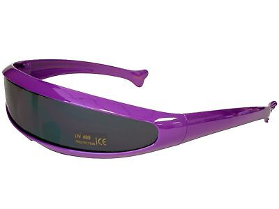 Trekkie Robot Devo Hairband 80s Robotica Party Cyclops Sunglasses Purple - Devo Sunglasses