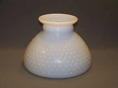 Milk glass lamp ebay 1 milk glass hobnail student lamp shade replacement 8 round top mozeypictures Image collections