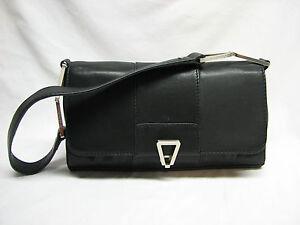 Calvin Klein Black Leather Shoulder Bag 47
