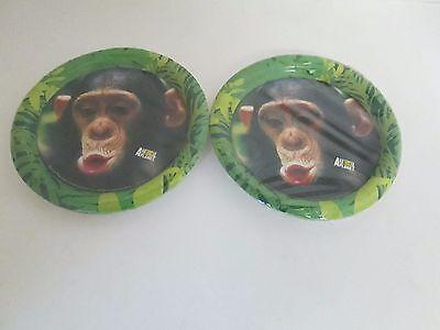 Animal Planet Monkey Paper Dessert Plates 8pk - - Animal Planet Party Supplies