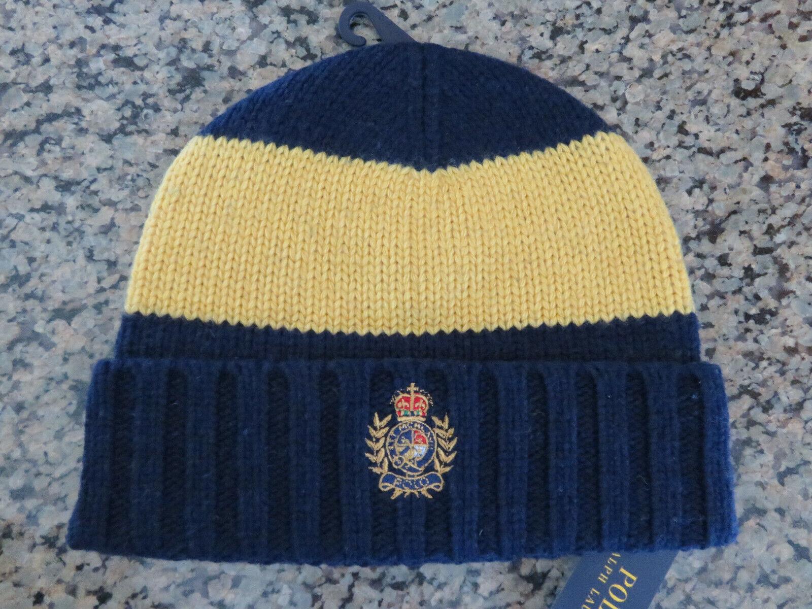 Polo RALPH LAUREN Beanie Skully Hat Cap Polo Crest Wool Blend Knit