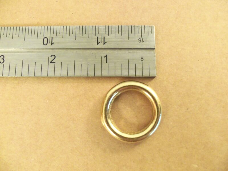 "3/4"" Solid Brass O Rings (Pack Of 25) SCA"