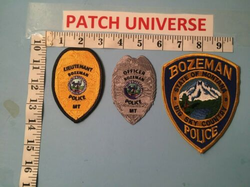 BOZEMAN  MONTANA LOT OF 3 DIFFERENT PATCHES  J036