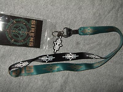 New Sleeping With Sirens Madness SWS Band Lanyard ID Pin Holder And Rubber Charm