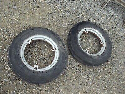 Farmall Ih A B Bn Sa C Sc Tractor 15 Front Buckle Hub Rim Rims W Goodyr Tires