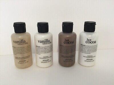 Philosophy Wrapped in Vanilla Vanilla Velvet Truffle Hot Cocoa 4 PC Gift Set -