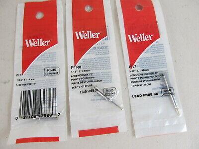 3 Tips Weller Ptr8 Ptr7 Ptl7 Tip Tcp Tc201 Series Iron New.