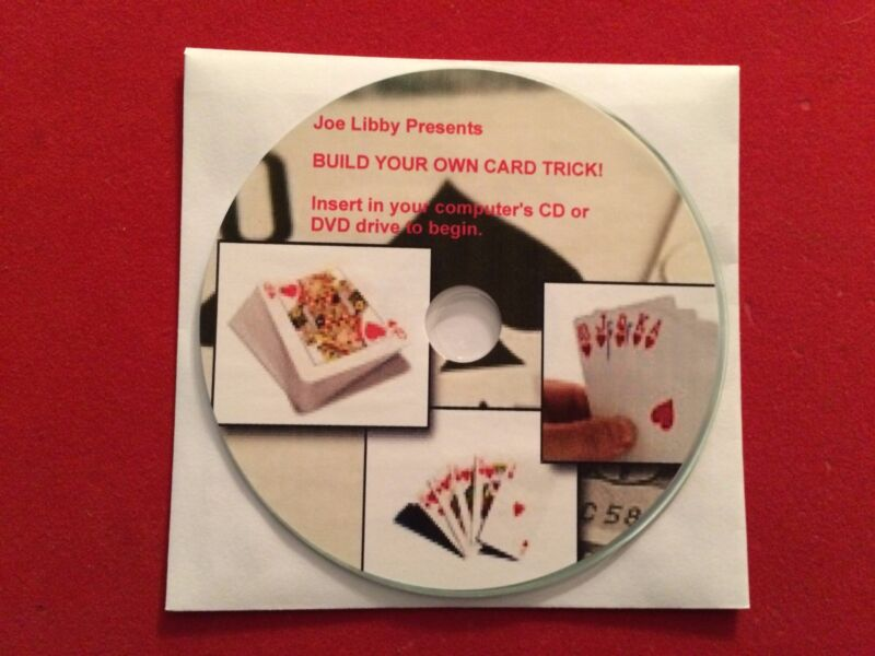 BUILD YOUR OWN CARD TRICK magic course on CD!