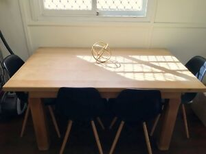 Custom hand made dining table with chairs